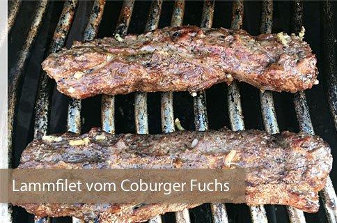 Gegrilltes Lammfilet vom Coburger Fuchs